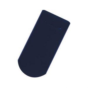 Solzi cu taietura semicirculara albastru inchis